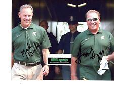 Tom Izzo Mark Dantonio REPRINT signed auto photo Michigan State Spartans MSU!