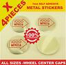 wheel center caps 4x metal STICKERS front rear badge hub emblem cover 1000MIGLIA