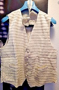 Ψψ 1.700 $ | 2 x Stefano Ricci | pure SILK vest / gilet / waistcoat + Bow tie