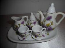 VINTAGE ROYAL NORFOLK 8-PIECE MINIATURE PORCELAIN TEA SET - SWEET FIND!