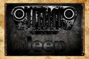 Jeep garage auto shop metal sign outdoor metal wall art