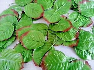 100 MINI ARTIFICIAL SILK ROSE LEAVES leaf SHORT STEM) /WEDDING/ DECORATION/CRAFT