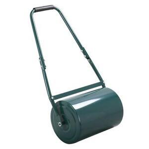 38L Garden Lawn Roller Heavy Duty Steel Water Sand Filled Grass Rolling
