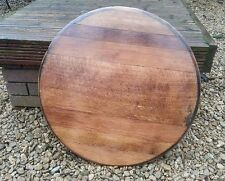 Recycled Solid Wooden Oak Whisky Barrel Ends lid cask drinks tray Vintage