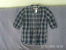 Womens Size 16 - Blue Check 3/4 Sleeve Top - M&Co. - NEW with Tag