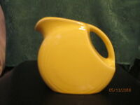 Fiesta Ware SUNFLOWER Yellow  Retired  SMALL DISK DISC /JUICE PITCHER  28 ounce