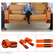 2x Forearm Forklift Lifting and Moving Straps Easily Carry Heavy Furniture Aid