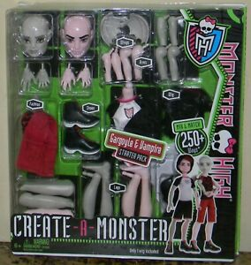 RETIRED 2011 MINT 1ST RELEASE MONSTER HIGH CREATE-A-MONSTER GARGOYLE & VAMPIRE