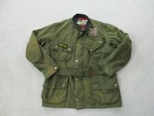 Barbour Jacket Adult Extra Large Mens 42 Green Waxed Steve McQueen Coat Mens