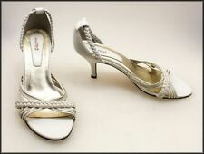 Bridal or Wedding Leather Open Toe Shoes for Women