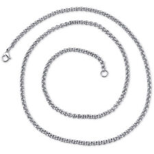 22 inch 4mm Stainless Steel Rolo Chain Necklace