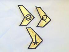 Star Trek: Enterprise Uniform Insignia Patches - Set of 3 USS Defiant TOS Style