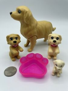 Mattel Barbie Doll Golden Retriever And Newborn Puppy BOBBLE HEAD DOGS