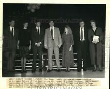 1989 Press Photo Songy family honored as Family of the Year in Slidell