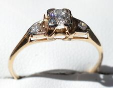 14ct Yellow Gold & Diamond Ring
