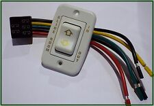 RV SLIDE ROOM SWITCH IN / OUT WITH WIRE HARNESS, 5 PRONGS MOMENTARY W/ BEZEL 12V