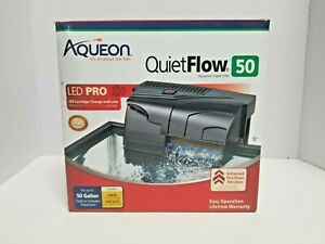 Aqueon QuietFlow LED PRO 50 Aquarium Power Filter NEW + 1 Extra Filter