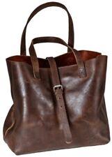 ROKKER Lady Bag marrón oscuro moderno bolso mujer de cuero en Vintage Aspecto