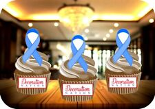 Prostate Cancer Ribbon 12 Edible STANDUP Cake Topper Decoration Charity Aware
