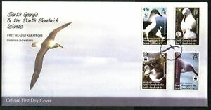 SOUTH GEORGIA - 2003 WWF 'GREY-HEADED ALBATROSS' First Day Cover [C1343]