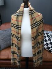 BURBERRY SCARF, BURBERRY CHECK, CASHMERE, FRINGED.