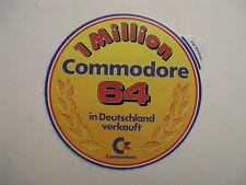 Comodore c64  -  1 Million Aufkleber  -  Original 80er Jahre Sammlerstück