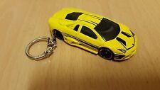Diecast Lamborghini Reventon Yellow Toy Car Keyring Keychain