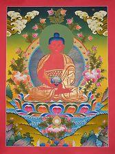 "30.25"" x 22.5"" Amitabha Buddha Tibetan Buddhist Thangka Scroll Painting Nepal"