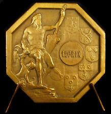 Médaille concours de chiens allégorie d'après Antoine Coysevox c1930 medal