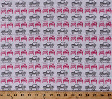 Jeeps Car Vehicles Transportation Camping Pink Cotton Fabric Print BTY D514.03