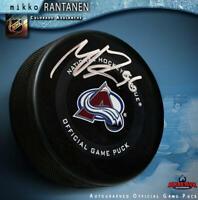 MIKKO RANTANEN Signed Colorado Avalanche Official Game Puck
