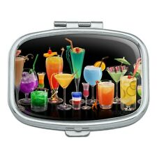 Cocktails Cocktail Drinks Bar Happy Hour Rectangle Pill Case Trinket Gift Box
