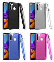 For Samsung Galaxy A21 S215DL A215W A215U1 Slim Flexi TPU Gel Skin Case Cover
