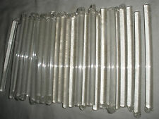 """Large lot of 35 pieces Czech Glass Rods stick for chandelier parts 4.5"""""""