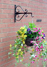 HANGING BASKET BRACKET HAND FORGED HEAVY DUTY 14ins