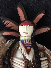 Donna Shakespeare-Cummings (Northern Arapaho) Beaded Hide Doll Native American