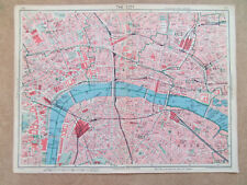 LONDON THE CITY OLD STREET MAP WATERLOO BLACKFRIARS CANON ST 9inx7in DATE-1939