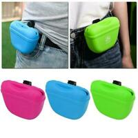 Pet Training Treat Bag Pouch Silicone With Clip Waist Pack Feed Feed F6X7