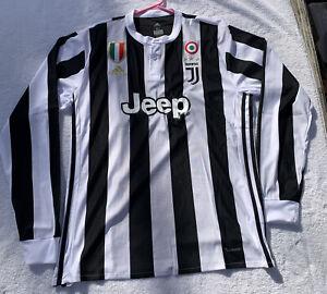 JUVENTUS F.C. Juve Soccer L/S Jersey Shirt Sz Men's XL by adidas Jeep NWT! WOW!