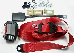 Red Seatbelt BMW 1502, 1602 , 1802 , 2002, 3.0 / NSU Prinz / Porsche 911