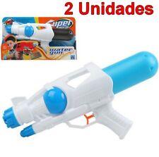 2 Unidades Juguete Pistola de Agua infantil de 34 cm, edad +3 años, niños, niñas