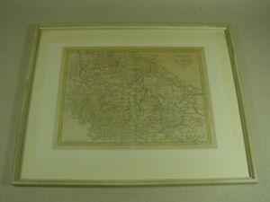 """Altkolorierte Karte """"Comté de Pirmont"""" Bad Pyrmont, Landkarte gerahmt."""