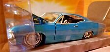 Jada Toys 1967 Chevy Impala 1:24 Blue Diecast Car Street Low Lowrider Series