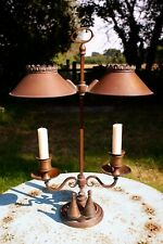Antique bouillotte twin candle students' lamp Miller 179 Piccadilly