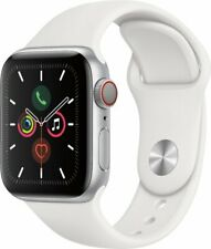 Apple Watch Series 5 (GPS + Cellular) 40mm Silver Aluminum Case with Sport Band