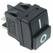 Black On-Off Rocker Switch DPST 15A