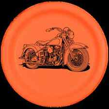 Hog Motorcycle Hawg Party Supplies ORANGE & BLACK LUNCH DINNER PLATES
