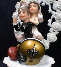 New Orleans Saints NFL Football Wedding Cake Topper Bride Groom Funny #1 FAN