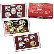 2010-S~US MINT 14 COIN SILVER PROOF SET~ W/NATIONAL PARKS & PRESIDENTS~~OGP