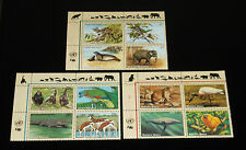 U.N. 1994, ENDANGERED SPECIES, INSC. BLKS/4, ALL 3 OFFICES, MNH, NICE!! LQQK!!